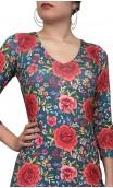 Grace Floral Flamenco Long-Dress 4 Ruffles
