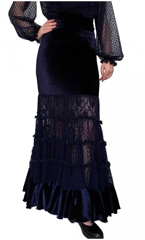 Falda Flamenca Lilly Terciopelo & Túl