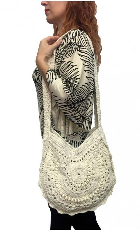 Light Beige Crochet Bag