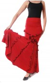 Juana Flamenco Long-skirt w/Small Ruffles