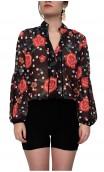 Judy Floral Crepe Leotard-Shirt