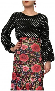 Arya Puffy Sleeves Flamenco Shirt