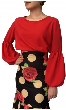 Camisa Flamenca Arya con Manga Ablusada