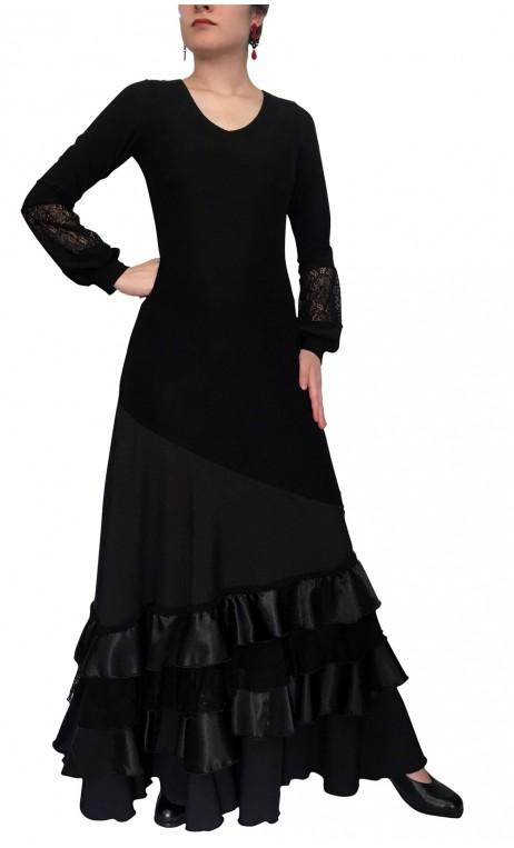 Grace Flamenco Long-Dress 4 Ruffles