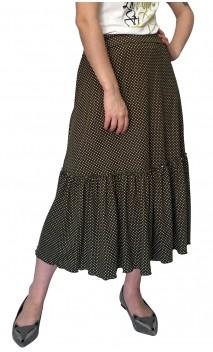 Fabi Polka-dots Midi-Skirt