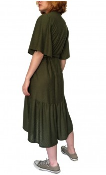 Sophie Wrap Over Midi-Dress