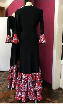 Black & Red Skirt & Blouse Flamenco Set