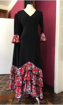Conjunto Falda & Blusa Negro c/Rojo