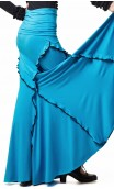 Juana Flamenco Long-skirt w/Small Ruffles