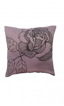 Throw Decorative Pillow Cover Flower Grey & Lilac