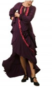 Long-Dress Manuela 4 Ruffles Purple