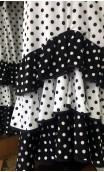 White & Black Collin Flamenco Long-Skirt 3 Ruffles