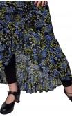 Agnes 1 Ruffle Floral Tulle Flamenco Skirt