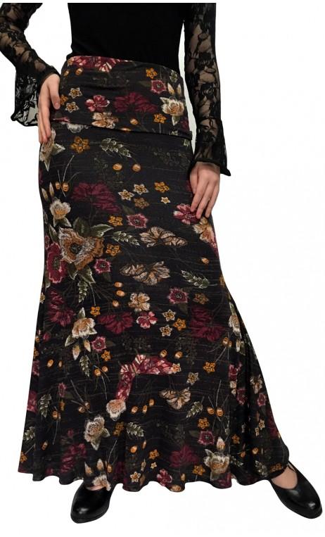Floral Lola Flamenco Skirt