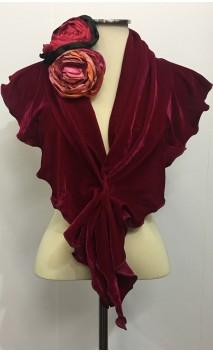 Conjunto Pink de Pañuelo de Terciopelo y Flor