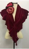 Pink Velvet Scarf & Flower Set
