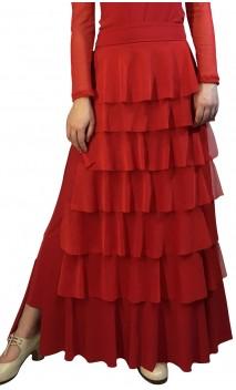 Saia Flamenca Simone 7 Babados de Tule