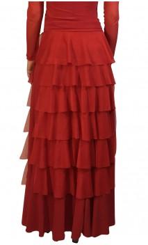 Falda Flamenca Simone 7 Volantes de Túl
