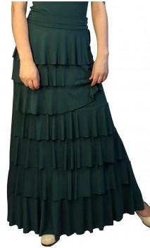 Saia Flamenca Simone 7 Babados