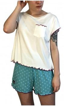 Pijama Camiseta e Shorts