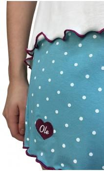 Pijama con Short de Lunares