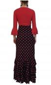 Eva Flamenco Skirt 3 Ruffles w/ Polka-Dots