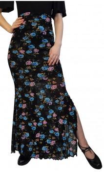 Saia Flamenca Lola de Tule Floral