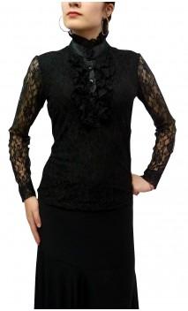 Victorian Collar Encajes Blouse