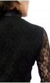 Blusa Encajes Cuello Vitoriano