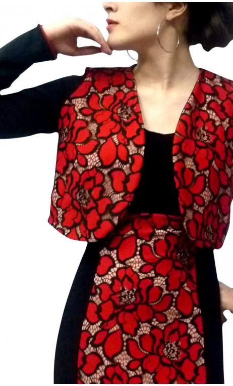 Frida Torera Jacket w/ Lace