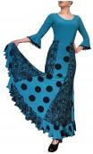 Francesca Flamenco Long-Skirt w/ 6 Panels