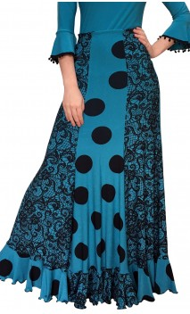 Francesca Flamenco Long-Skirt w/ 6 Panels