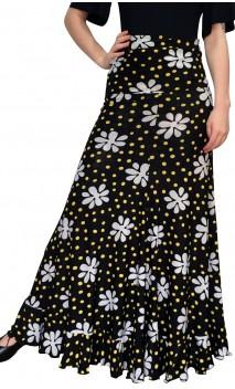 Vitoria Polka-dots & Flower Flamenco Skirt