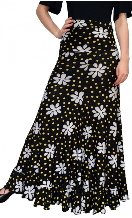 Vitoria Polka-dots & Flower Flamenco Skirt