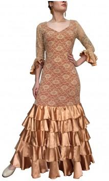 Vestido Flamenco Encajes Duna 5 Volantes