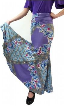 Floral Lilac Lola Flamenco Skirt