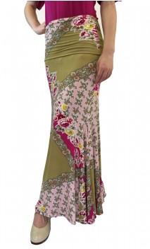 Floral Mustard Lola Flamenco Skirt