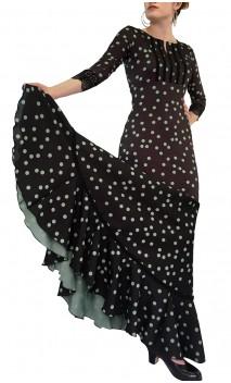 Vestido Flamenco Nora Godet Lunares