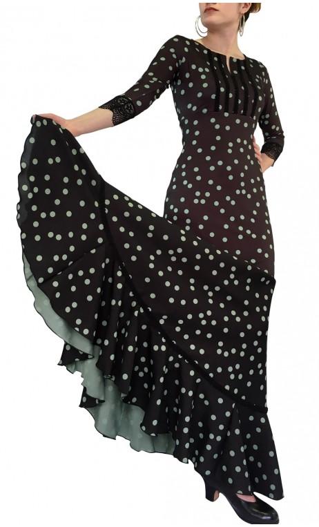 Polka-dots Nora Godet Flamenco Dress