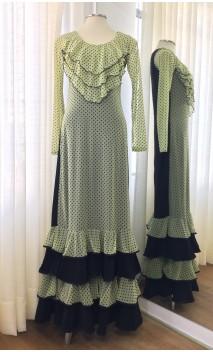 Yellow w/Polka-dots Tulle Flamenco Dress