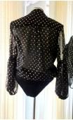Black & Gold Skirt & Shirt Flamenco Set