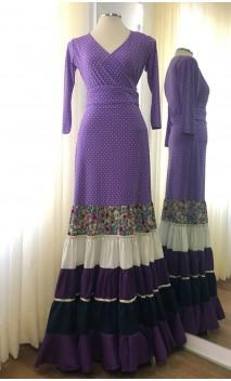Lilac Skirt Canastera & Top Flamenco Set