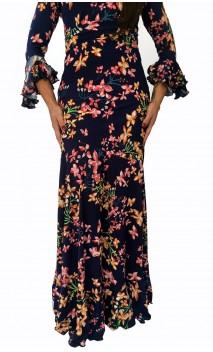 Falda Flamenca Godet Floral