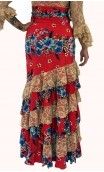 Flamenco Skirt Leonor 6 Ruffles w/ Lace