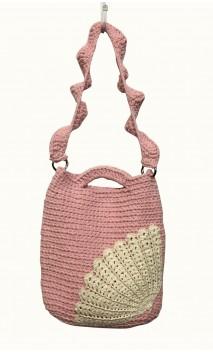 Bolsa de Crochet Rosa c/Cru