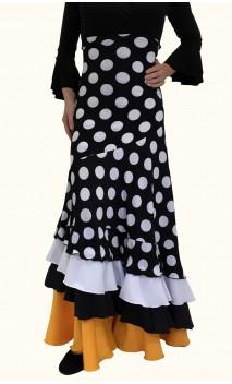 Falda Flamenco Stella Lunares 4 Volantes