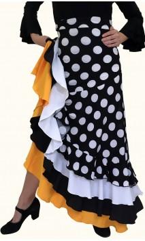 Stella Polka-dots Flamenco Long-Skirt 4 Ruffles