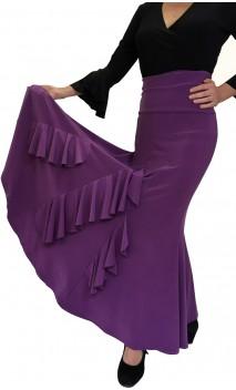 Rosario Long-Skirt with Vertical Ruffles