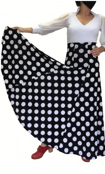 Polka-dots Godet Flamenco Skirt