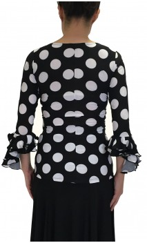 Lucy Polka-dots Top 3/4 sleeves